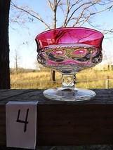 #4 King's Crown Sherbert/dessert dish Cranberry... - $7.69