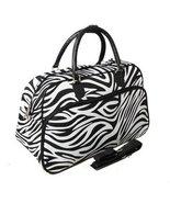 World Traveler Zebra Print Travel Bag, Black an... - $36.51