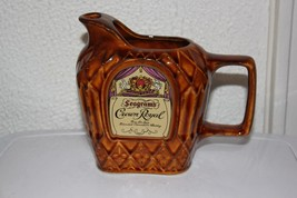 Vintage Seagrams Crown Royal Pitcher - $43.00