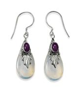 Elegant Sterling Silver Amethyst Drop Earrings ... - $31.29