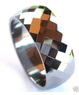TU3044 Size 11.75 - Faceted Tungsten Carbide Ring  - $23.99