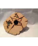 Ikebana Meyer Pottery Flower Frog Dragonfly - $17.33