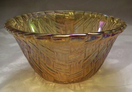Vintage INDIANA GLASS Dessert Bowl -Amber /Mari... - $3.75