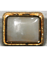 Vintage Rectangle Gold Tone MOP Mother of Pearl... - $19.99