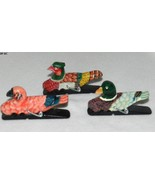 Wood Paper Clips Mallard Duck, Pheasant and Fla... - $15.00