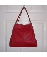 Coach Madison Phoebe Red Pebbled Leather Should... - $199.99