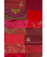 Victorian Crazy Quilt Kit Shades of Red Brocade... - $19.99