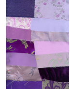 Crazy Quilt Kit Shades of Purple Lavender Broca... - $19.99