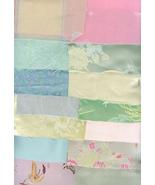 Victorian Crazy Quilt Kit Pastel Mix Brocade Si... - $19.99