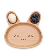 Rabbit Shaped Wooden Kid's Plate - $19.20