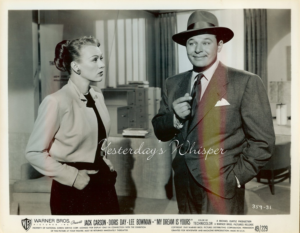 Eve ARDEN Jack CARSON My DREAM is YOURS Original 1949 Movie Photo
