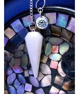 Beautiful Shakti Lotus Scolecite Pendulum Spiri... - $39.99