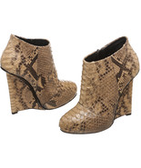Giuseppe Zanotti Brown Multicolor Snakeskin Wed... - $750.00