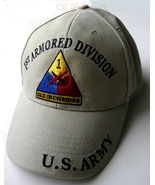 EMBROIDERED US ARMY 1ST ARMORED DIVISION OLD IR... - $10.70