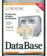 Software Database Maker CD-Rom  PROVENTURE - $18.99
