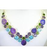 Purple Amethyst Druzy - Drusy Blue Topaz Perido... - $323.52
