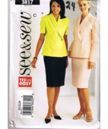 Butterick See & Sew 3817 Misses / Petite Top an... - $5.00