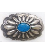 Oval Floral Flower Turquoise Stone belt buckle ... - $19.43