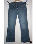 L.E.I. Juniors Lo-Rise Flare Leg Stretch Jeans ... - $6.99
