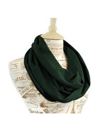 Dark Hunter Green Infinity Jersey Cotton Scarf by ForgottenCotton