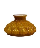 Aladdin Artichoke Lamp Shade Amber Cased Glass ... - $89.95