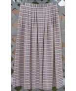 Susan Bristol Pink Green Plaid Skirt 12 Vintage... - $5.00