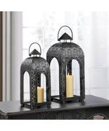 2 Black Lace Medallion Lanterns - $54.00
