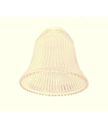 Clear Ribbed Bell Pale Amber Light Shade Ceilin... - $10.00