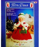 Fibre Craft Mrs Claus Crochet Doll Pattern Leaf... - $6.50
