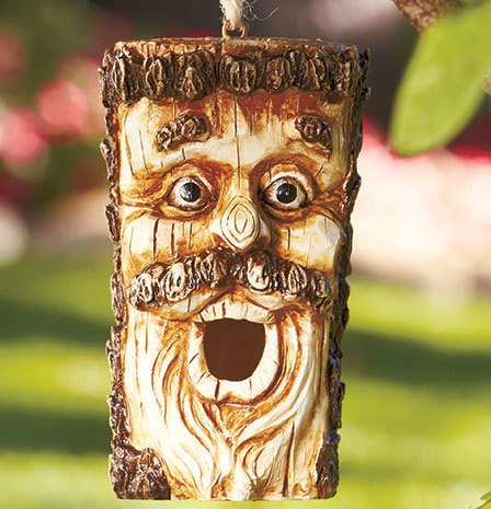 Man With Mustache Character Birdhouse
