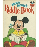 Mickey Mouse's Riddle Book Walt Disney Hardcove... - $9.99