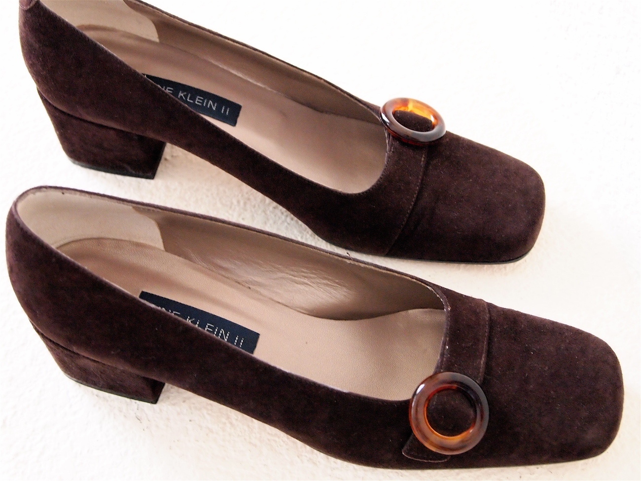 Anne klein II Slip On Pump In Brown Suede 8.5 N