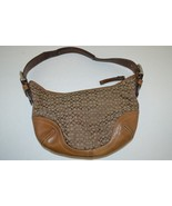 AUTHENTIC Coach Hobo Brown Canvas Signature Log... - $29.69