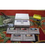 Nintendo SNES White Console (NTSC) with 5 games... - $118.79