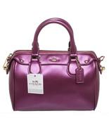 Coach Metallic Purple Leather Sachel Handbag - $350.00