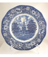Liberty Blue Independence Hall Staffordshire ir... - $15.00