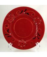 Deruta Italy pottery red black white plates set... - $25.00