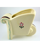 Vintage Shawnee pottery wheelbarrow planter emb... - $12.00