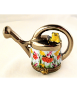 Limoges Box - Watering Can With Frog Flowers an... - $92.00