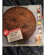 1990 Wilton Aluminum Sports Ball Cake Pan in Or... - $7.43