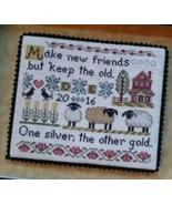On Friendship cross stitch chart Lila's Studio  - $9.90