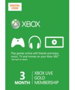 3-Month Microsoft Xbox 360/ONE Live Membership ... - $19.99