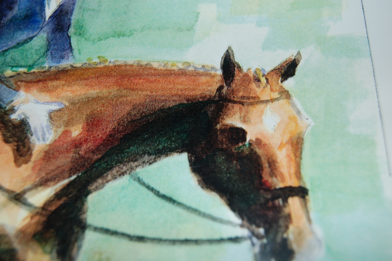 Horse_art_print_dressage_female_woman__horses_watercolor_art_prints_for_sale_andrea_s_creations_janna_bakhramov_grand_prix_closeup_horse_head