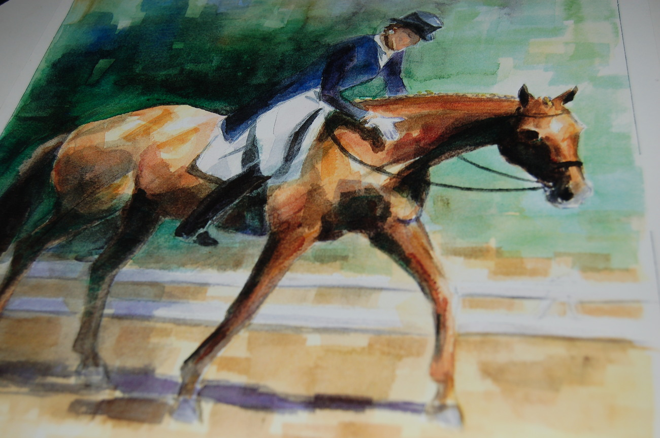 Horse_art_print_dressage_female_woman__horses_watercolor_art_prints_for_sale_andrea_s_creations_janna_bakhramov_grand_prix