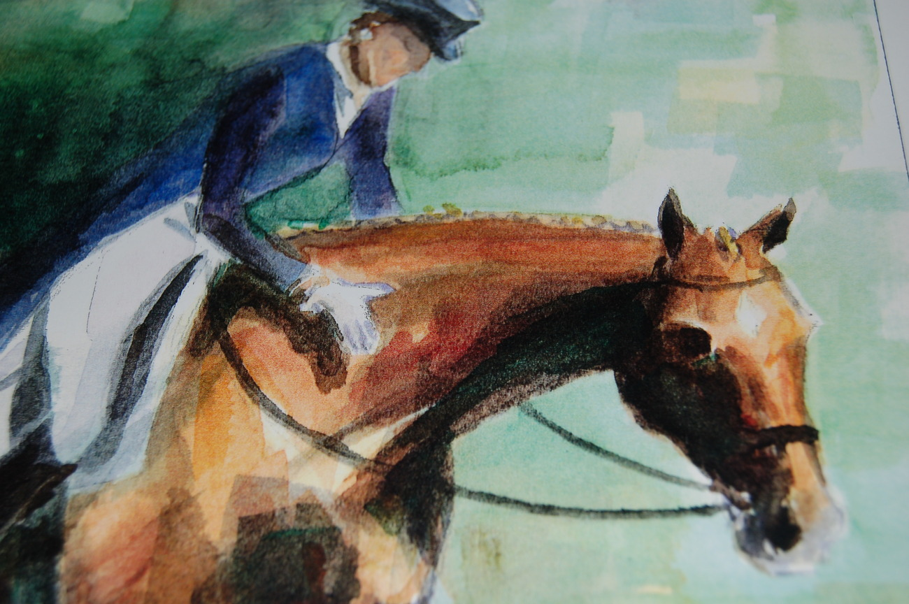 Horse_art_print_dressage_female_woman__horses_watercolor_art_prints_for_sale_andrea_s_creations_janna_bakhramov_grand_prix_closeup