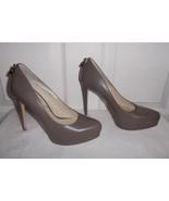 Michael Kors Hamilton Taupe Leather Heels Platf... - $149.99