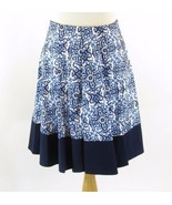 MILLY Size M Swingy Blue White Skirt - $39.99