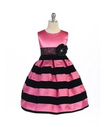 Dramatic Hot Pink Black Stripes Pageant Flower ... - $49.95