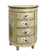 Antique Accessory Table w/Calla Lily Floral Art... - $272.24