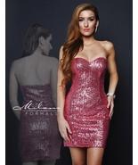 Milano Formals E1670 Light Fuchsia Pink Sequins... - $98.99